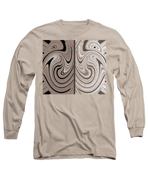 Abstract Desert Raptors Long Sleeve T-Shirt by Will Borden