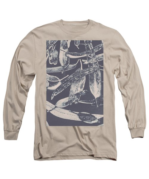 Abstract Design Tree Leaves Background Long Sleeve T-Shirt