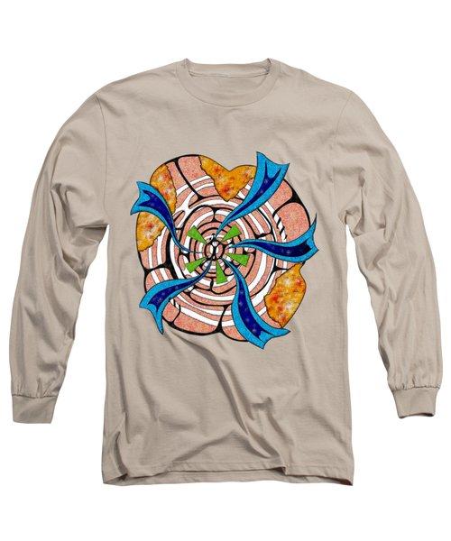 Abstract Digital Art - Ciretta V3 Long Sleeve T-Shirt