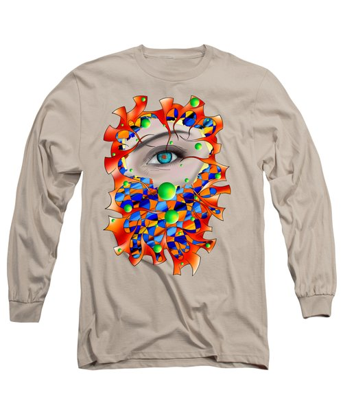 Abstract Digital Art - Delaneo V3 Long Sleeve T-Shirt