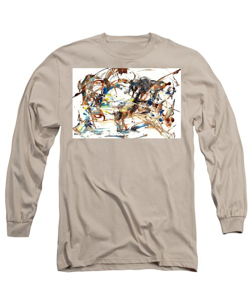 Long Sleeve T-Shirt featuring the painting Abstract Expressionism Painting Series 1042.050812 by Kris Haas