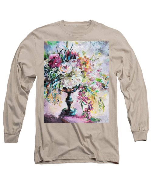 Abstract Floral Long Sleeve T-Shirt by Arleana Holtzmann