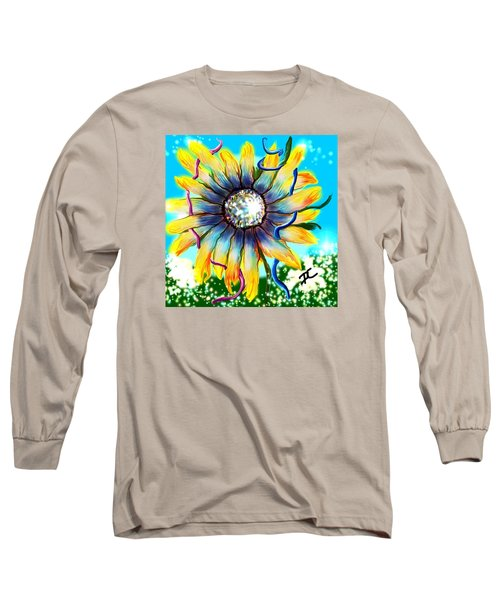 Long Sleeve T-Shirt featuring the digital art Abstract Flower by Darren Cannell
