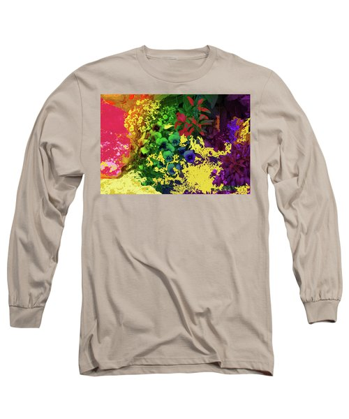 Abstract Flowers Of Light Series #2 Long Sleeve T-Shirt