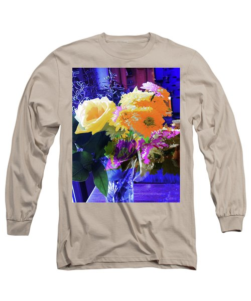 Abstract Flowers Of Light Series #7 Long Sleeve T-Shirt