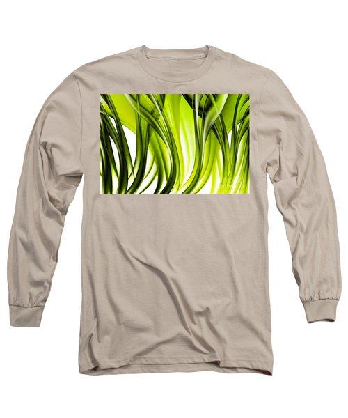 Abstract Green Grass Look Long Sleeve T-Shirt