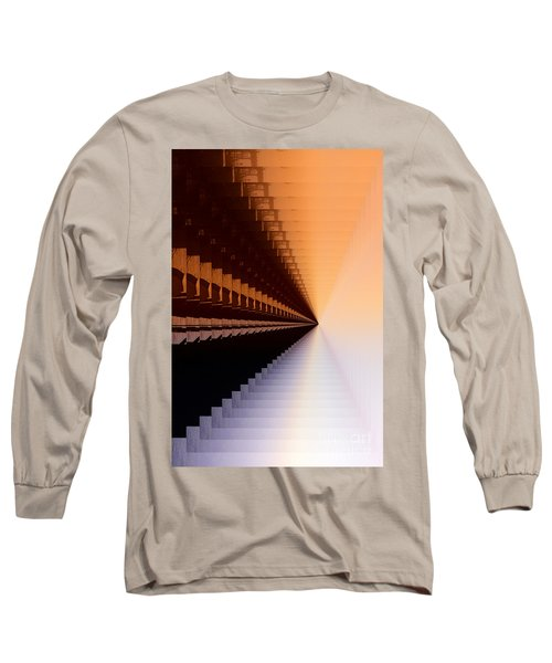 Abstract Industrial Sunrise Long Sleeve T-Shirt