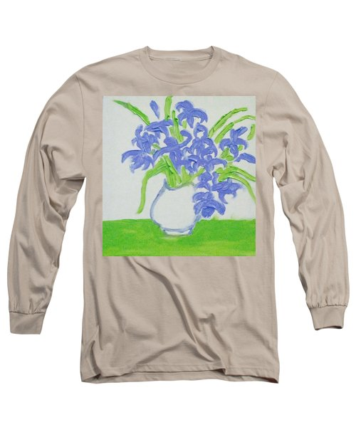 Abstract Iris Long Sleeve T-Shirt by Hae Kim