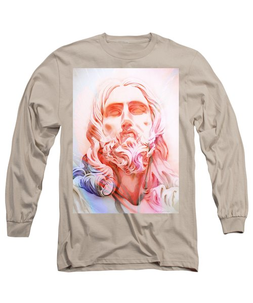 Long Sleeve T-Shirt featuring the painting Abstract Jesus 1 by J- J- Espinoza
