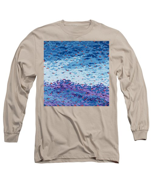Abstract Landscape Painting 2 Long Sleeve T-Shirt by Gordon Punt