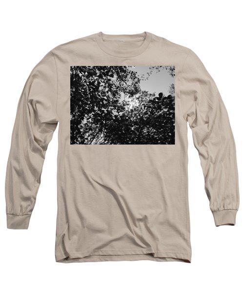 Abstract Leaves Sun Sky Long Sleeve T-Shirt