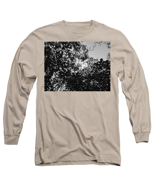 Abstract Leaves Sun Sky Long Sleeve T-Shirt
