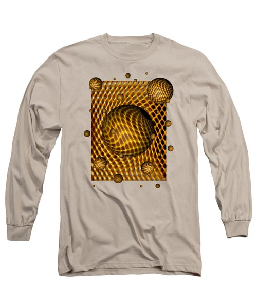Long Sleeve T-Shirt featuring the digital art Abstract - Life Grid by Glenn McCarthy Art and Photography