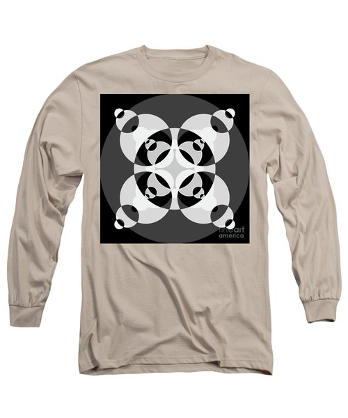 Abstract Mandala Black, Gray And White Pattern For Home Decoration Long Sleeve T-Shirt