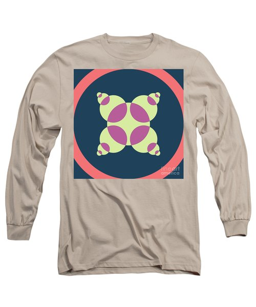 Abstract Mandala Pink, Dark Blue And Cyan Pattern For Home Decoration Long Sleeve T-Shirt