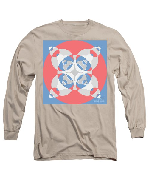 Abstract Mandala White, Pink And Blue Pattern For Home Decoration Long Sleeve T-Shirt