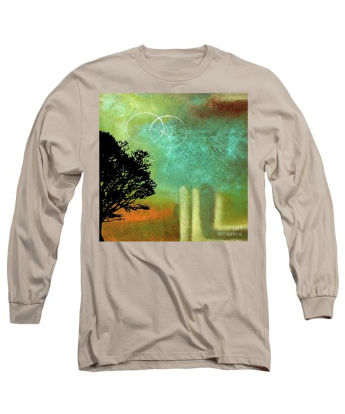 Abstract Modern Art Eternity Long Sleeve T-Shirt by Saribelle Rodriguez