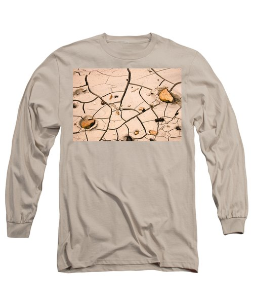 Abstract Mud Flat Pink Saturated Long Sleeve T-Shirt