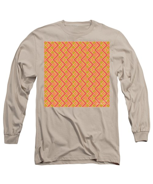 Abstract Orange, Red And Brown Pattern For Home Decoration Long Sleeve T-Shirt