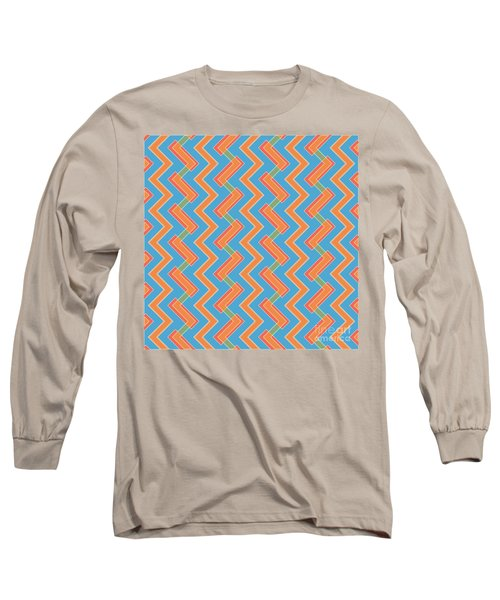 Abstract Orange, Red And Cyan Pattern For Home Decoration Long Sleeve T-Shirt