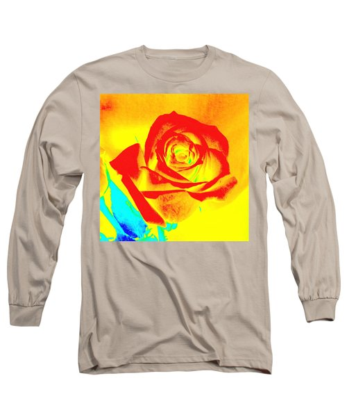 Abstract Orange Rose Long Sleeve T-Shirt
