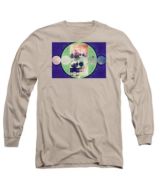 Long Sleeve T-Shirt featuring the digital art Abstract Painting - Blanc by Vitaliy Gladkiy