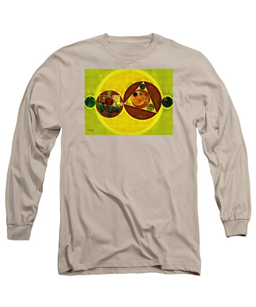 Abstract Painting - Citrine Long Sleeve T-Shirt
