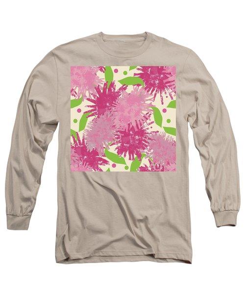 Abstract Pink Puffs Long Sleeve T-Shirt