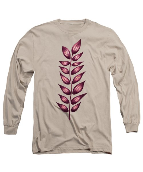 Abstract Plant With Pointy Leaves In Purple And Yellow Long Sleeve T-Shirt