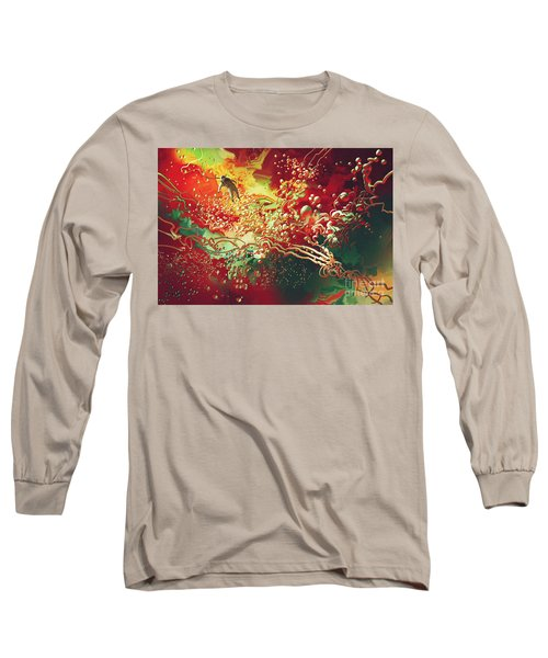 Abstract Space Long Sleeve T-Shirt