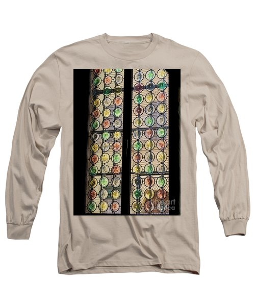 Abstract Stained Glass Long Sleeve T-Shirt by Patricia Hofmeester