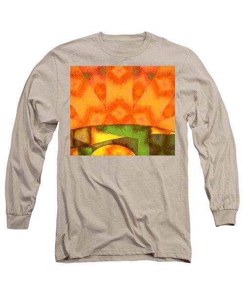 Abstract Sunrise Long Sleeve T-Shirt