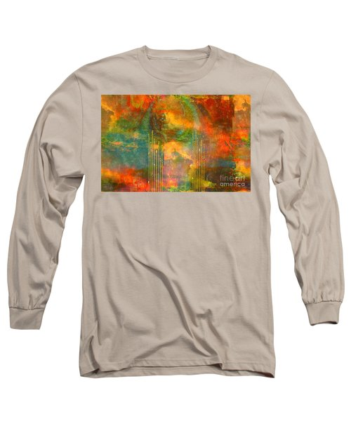Abstract The World As It Is  Long Sleeve T-Shirt by Sherri's Of Palm Springs