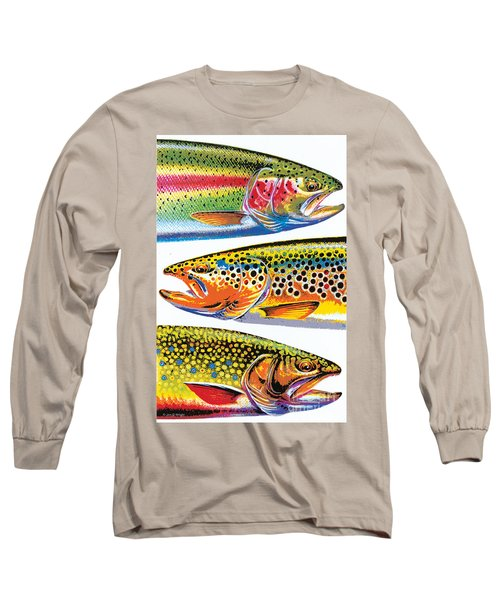 Abstract Trout Long Sleeve T-Shirt by JQ Licensing Jon Q Wright