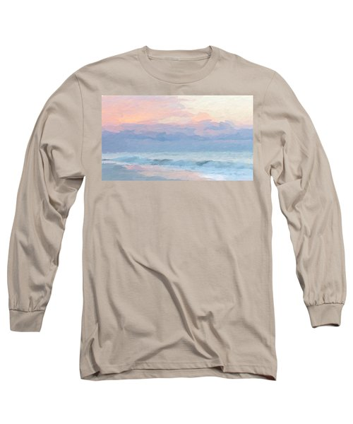 Abstract Warm Morning Long Sleeve T-Shirt