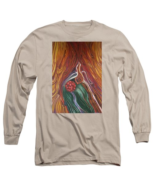Abstraction With Red Balls Long Sleeve T-Shirt