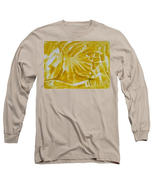 Abstract Yellow  Long Sleeve T-Shirt