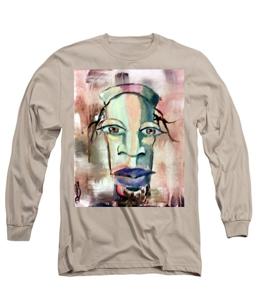Long Sleeve T-Shirt featuring the painting Abstract Young Man #2 by Raymond Doward