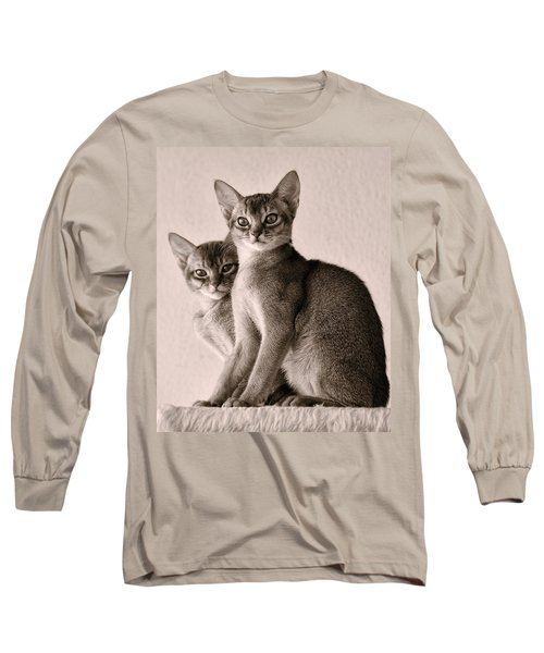 Abyssinian Kittens Long Sleeve T-Shirt