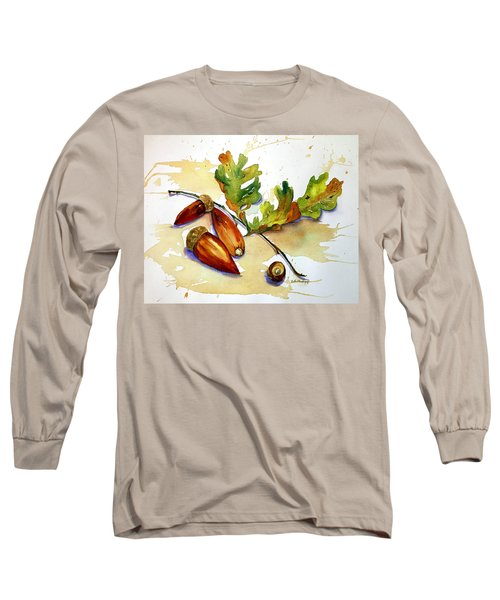 Acorns And Leaves Long Sleeve T-Shirt