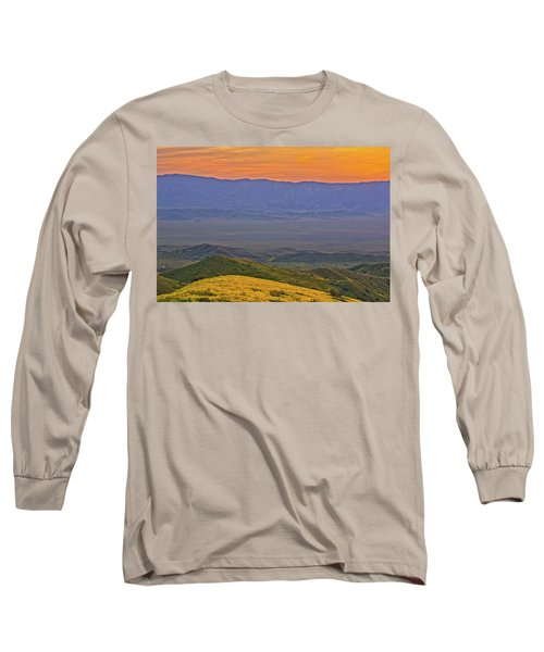 Across The Carrizo Plain At Sunset Long Sleeve T-Shirt by Marc Crumpler