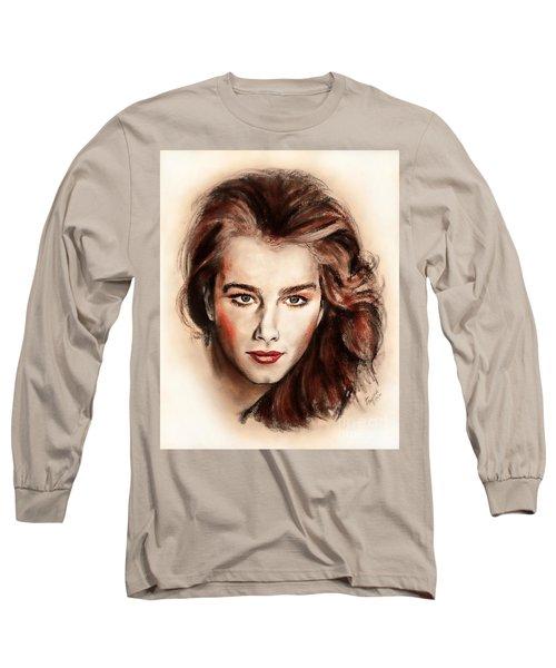 Actress And Model Brooke Shields II Long Sleeve T-Shirt