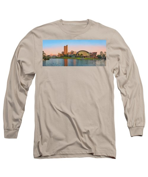 Adelaide Riverbank Panorama Long Sleeve T-Shirt