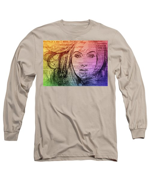 Adele Hello Typography  Long Sleeve T-Shirt