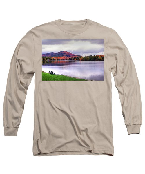 Adirondack Chairs In The Adirondacks. Mirror Lake Lake Placid Ny New York Mountain Long Sleeve T-Shirt