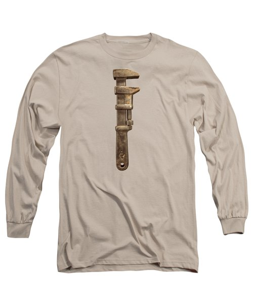 Adjustable Iron Wrench Right Face Long Sleeve T-Shirt