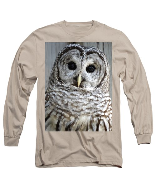 Adorable Barred Owl  Long Sleeve T-Shirt by Rebecca Overton