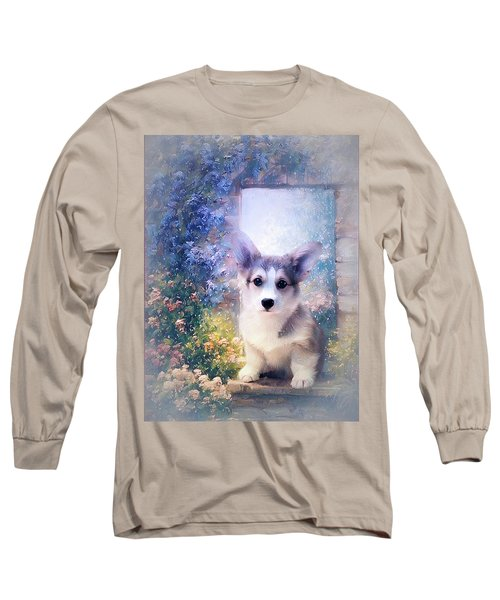 Adorable Corgi Puppy Long Sleeve T-Shirt