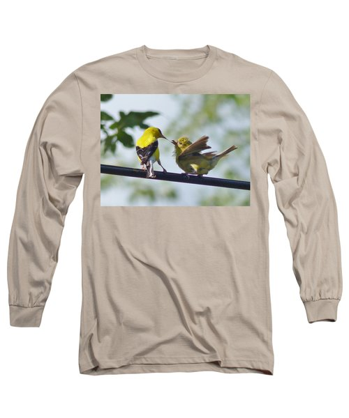Adult And Juvenile American Goldfinch Long Sleeve T-Shirt