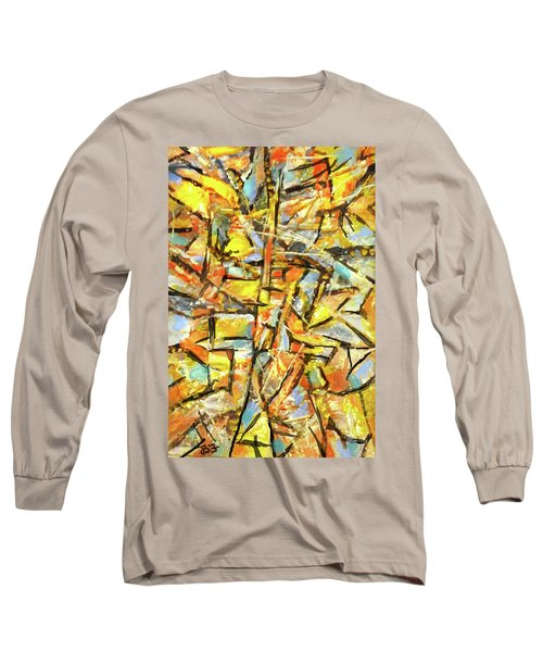 Aerial In Gold Long Sleeve T-Shirt
